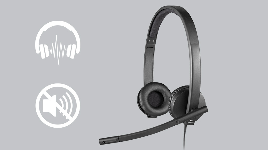 Logitech USB Headset H570e Key Fetures